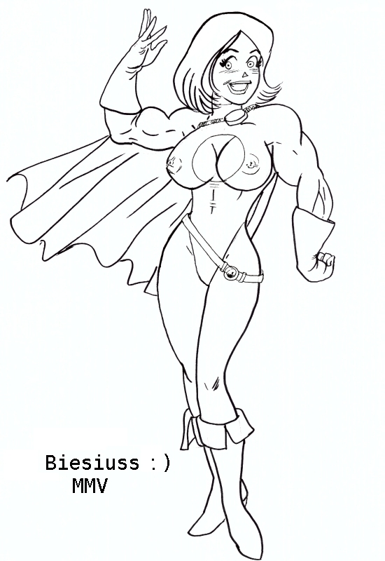 archie_comics betty_cooper biesiuss biesiuss_(artist) boobies cosplay dc lipstick muscle nipples power_girl sexy