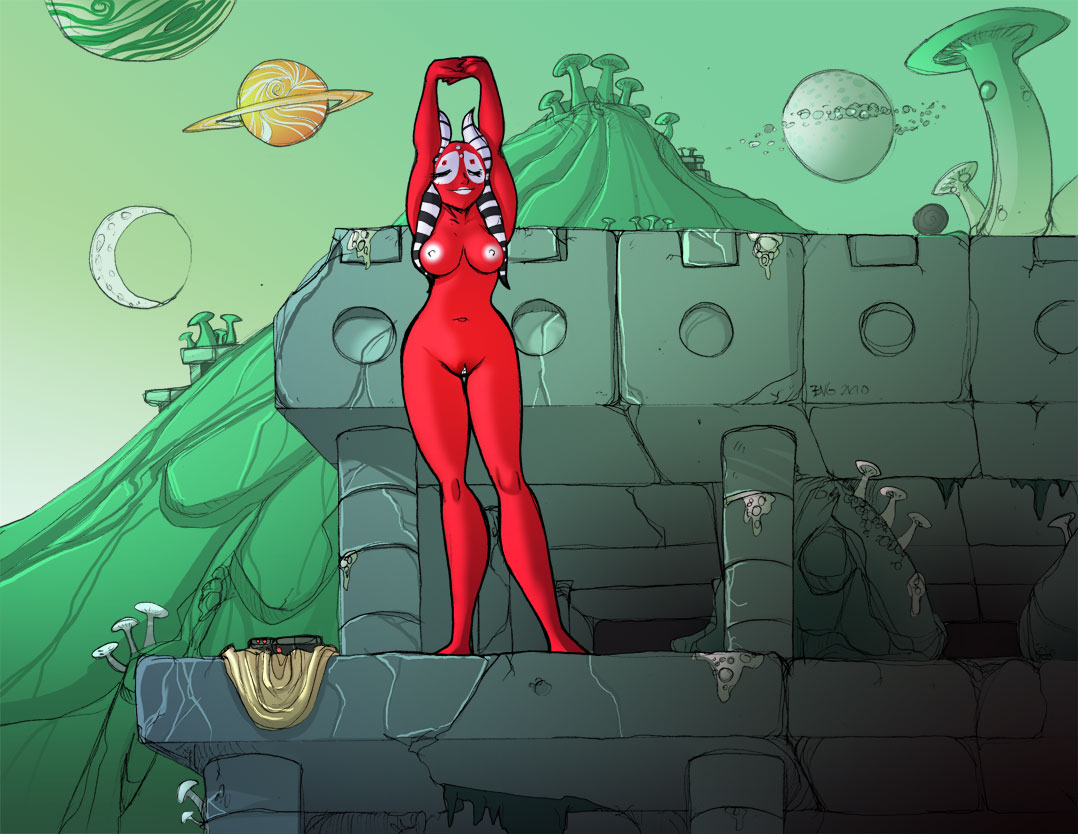 alien hairless_pussy nipples nude pussy shaak_ti shia_(artist) star_wars togruta