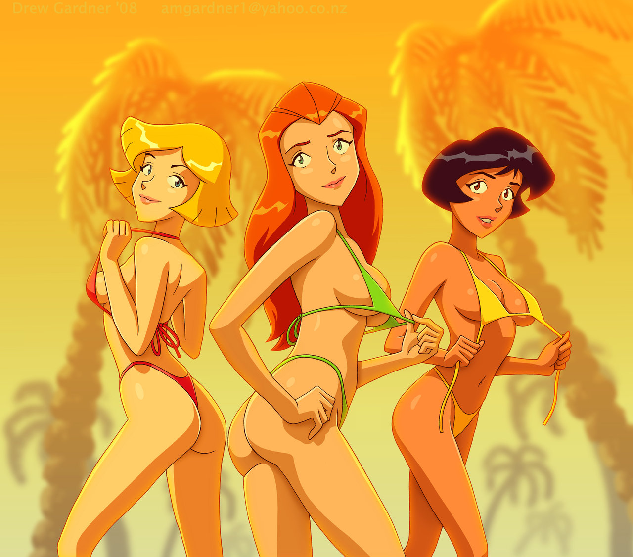 alex ass bikini breasts clover drew_gardner drew_gardner_(artist) sam string_bikini totally_spies