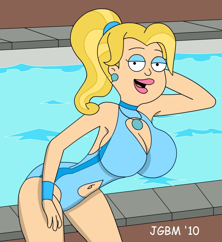 american_dad bikini francine_smith jgbm_(artist) pool swimming