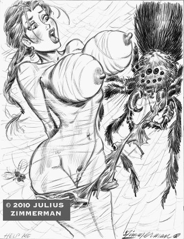 2010 julius_zimmerman_(artist) lara_croft monochrome tomb_raider zimmerman