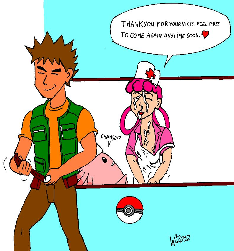 brock chansey joy nurse nurse_joy pokemon saiyaman takeshi