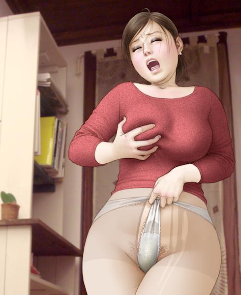breast_squeeze breasts legwear munio_world omorashi panties panty_pull peeing pubic_hair torn_clothes torn_stockings underwear wet_panties
