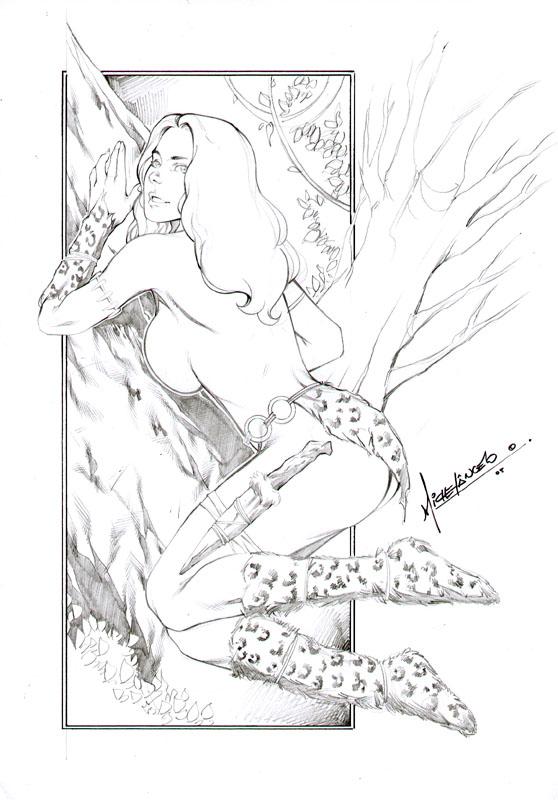 ass basement_comics cavewoman meriem_cooper michelangelo sideboob topless