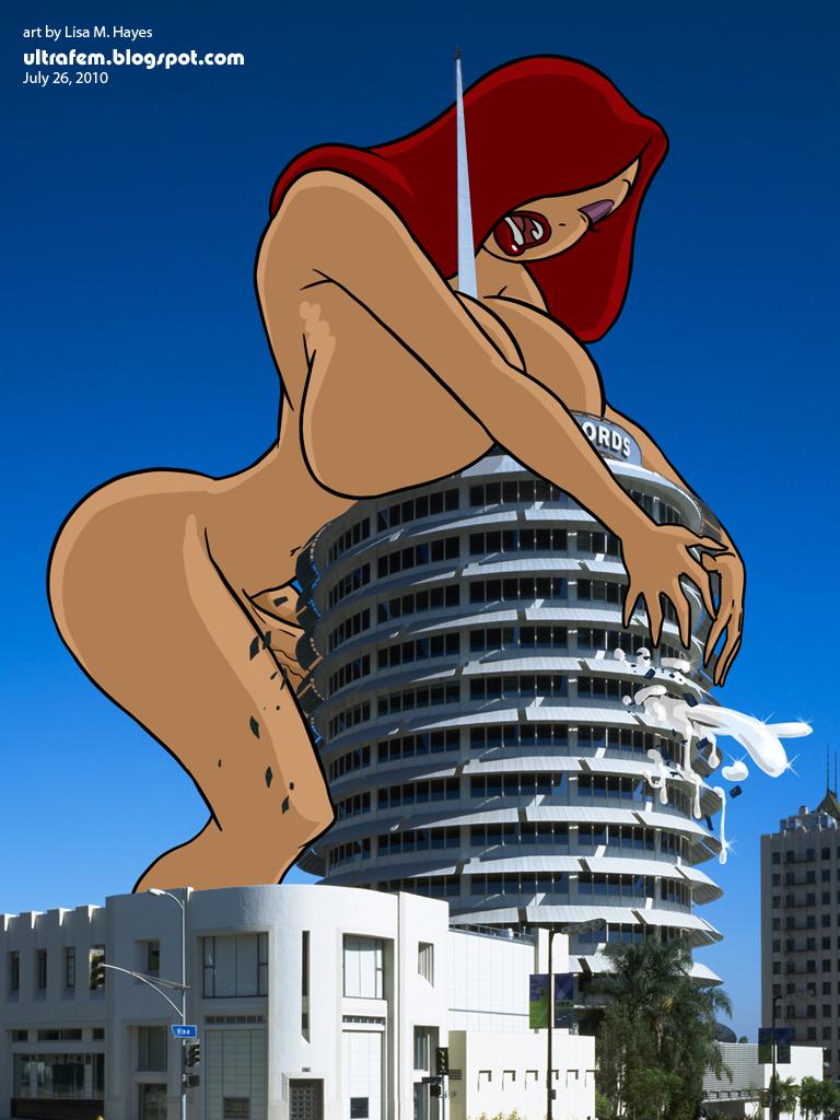 big_breasts breasts cum futanari giant giantess jessica_rabbit nude ultrafem ultrafem_(artist) who_framed_roger_rabbit