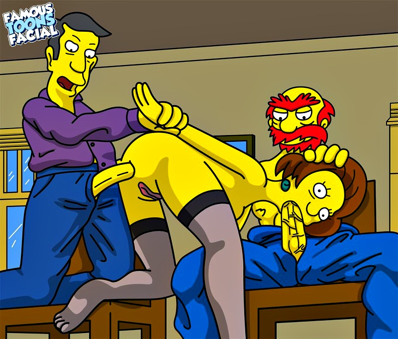 edna_krabappel famous-toons-facial tagme the_simpsons yellow_skin