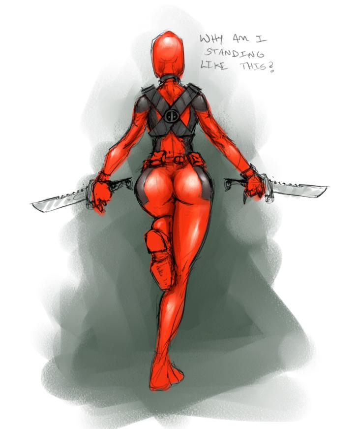 ass deadpool knives lady_deadpool marvel rule_63 sexy