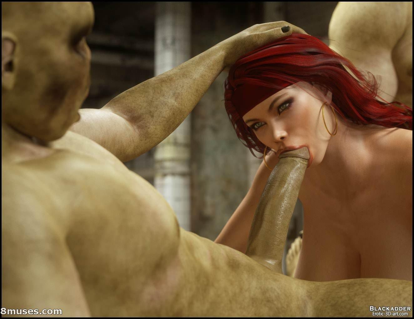 3d 8muses ass big_breasts blackadder breasts fellatio miriam oral orc orcs red_head redhead slut watermark web_address
