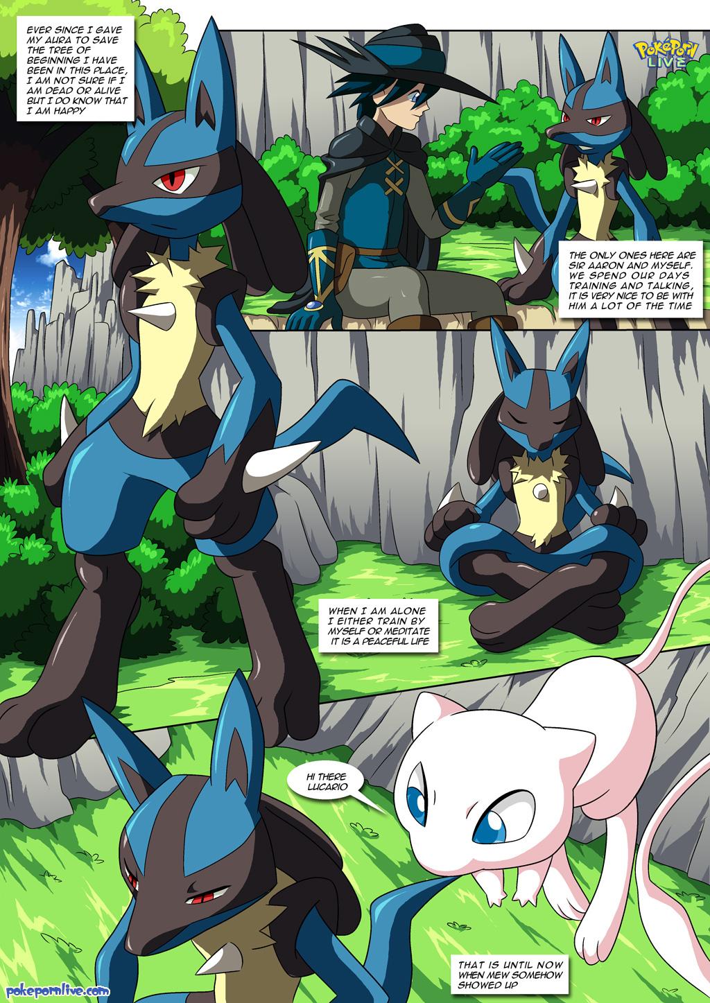 comic lucario lucario's_gift mew pokemon pokepornlive sir_aaron tagme