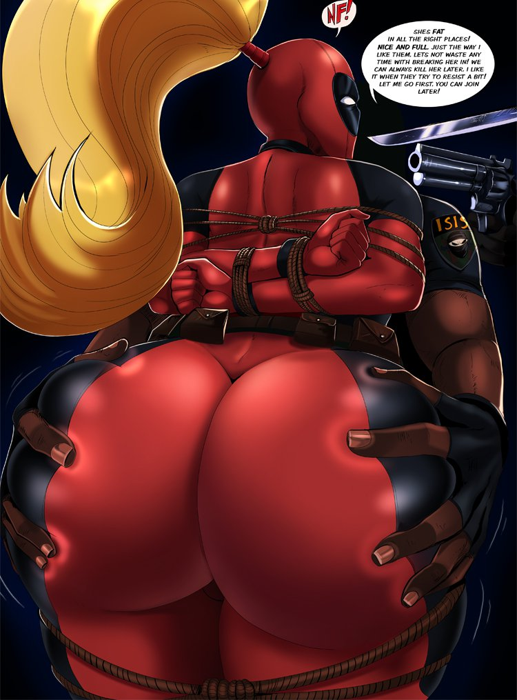 ass ass_grab bodysuit dat_ass huge_ass lady_deadpool marvel shadman tied