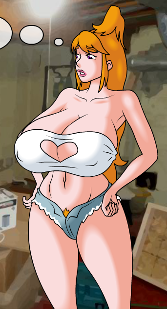 big_breasts breasts busty gravion heart_cleavage_cutout huge_breasts meet_and_fuck mizuki_tachibana nipple_bumps nipples_through_clothes redhead short_shorts tachibana_mizuki tagme thick_thighs