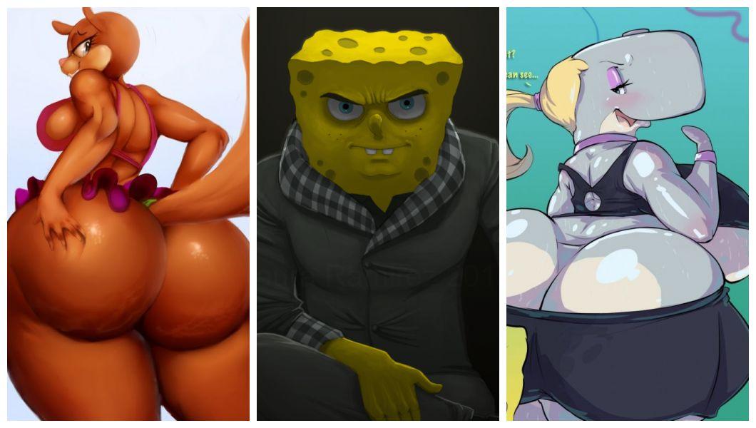 badass big_ass big_breasts dat_ass dingoringo30 edit huge_ass pearl_krabs sandy_cheeks spongebob_squarepants vhsdaii