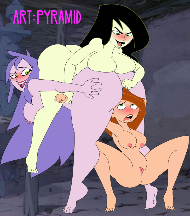big_ass big_breasts breasts crossover disney kim_possible kimberly_ann_possible madam_mim nude pyramid_(artist) sex shego sitting_on_face the_sword_in_the_stone yuri