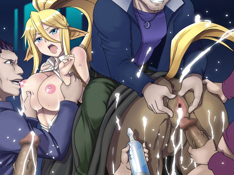 10s 1girl 3boys animal_ears anus arm_grab ass big_breasts biting blonde_hair blue_eyes blush breast_grab breasts breasts_outside centaur centorea_shianus cheating cum cum_drip cum_in_pussy cum_on_ass horse_tail lolita_channel masturbation monster_girl monster_musume_no_iru_nichijou mosaic_censoring multiple_boys netorare nipples no_bra open_clothes open_shirt penis spread_pussy tongue tongue_out