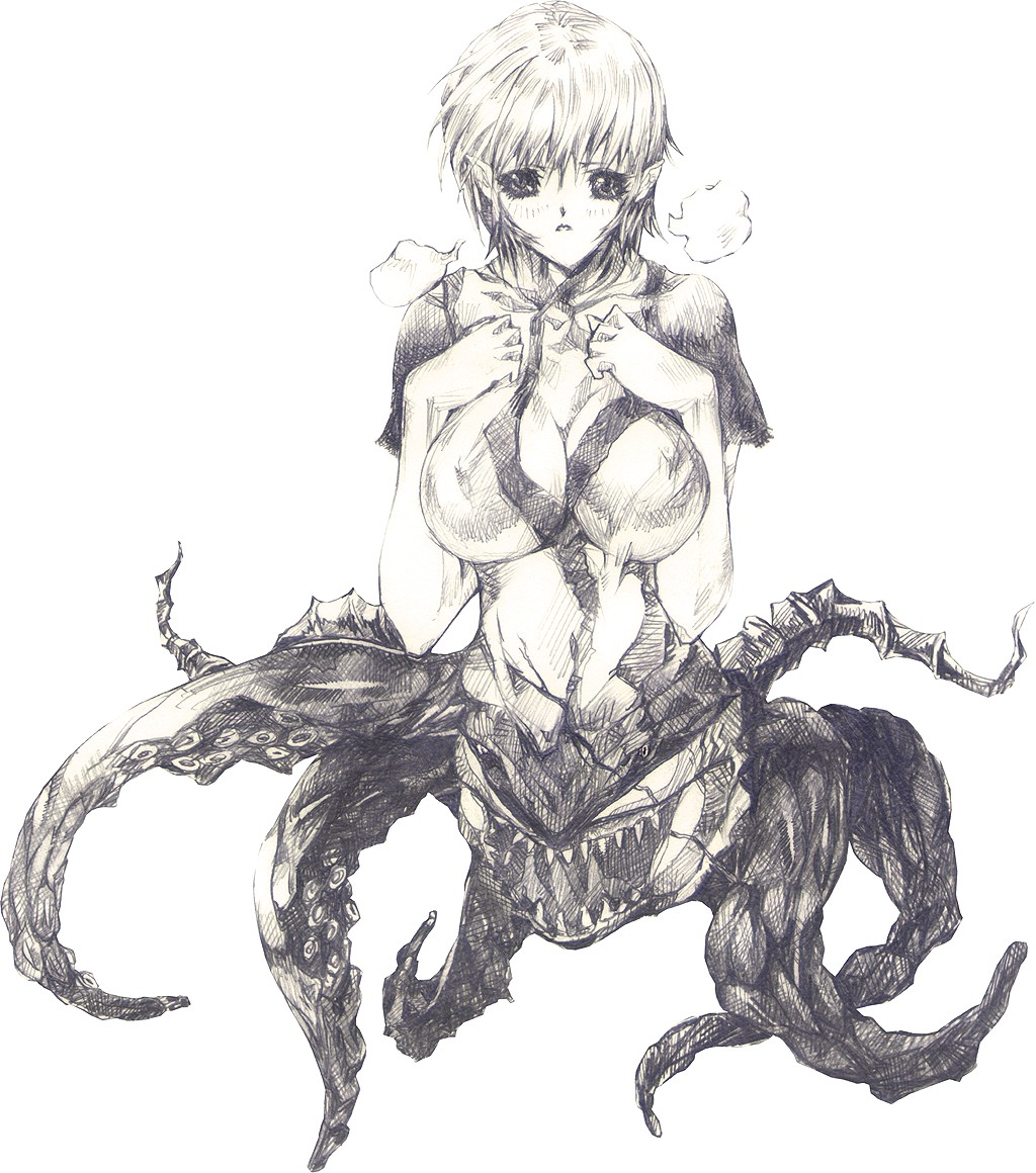 animal female ico ico_(game) monster octopus shadow teeth yorda