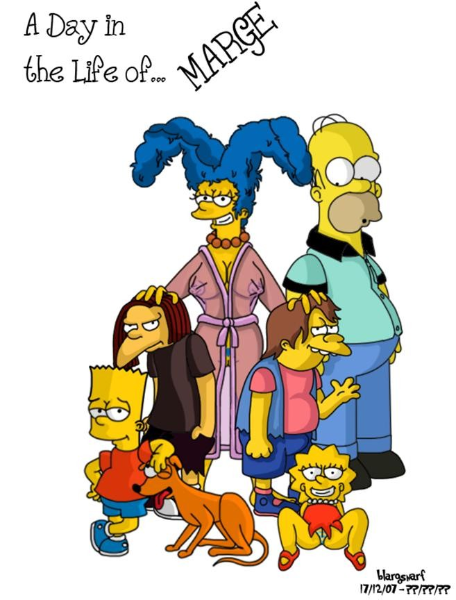 a_day_in_the_life_of bart_simpson blargsnarf blargsnarf_(artist) comic dolph_starbeam homer_simpson lisa_simpson marge_simpson nelson_muntz the_simpsons yellow_skin