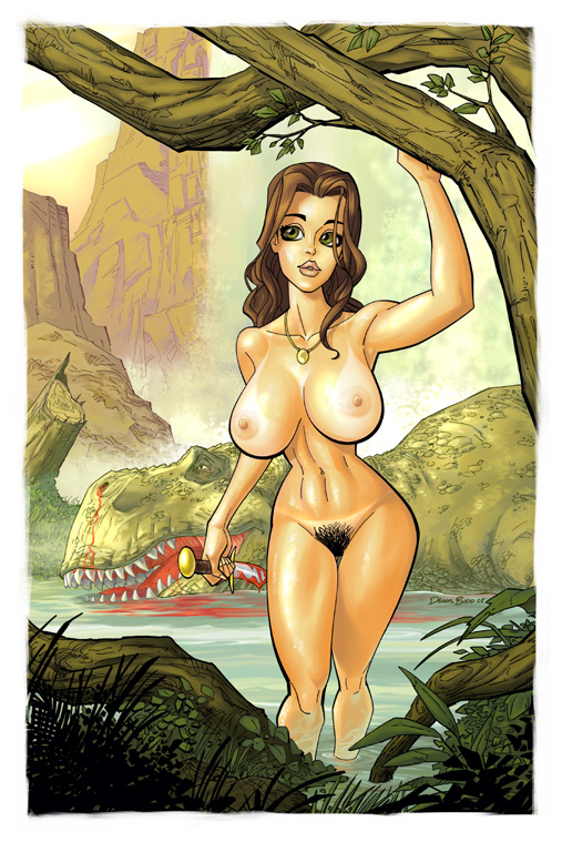 big_breasts breasts cavewoman dennis_budd dinosaur meriem_cooper nude