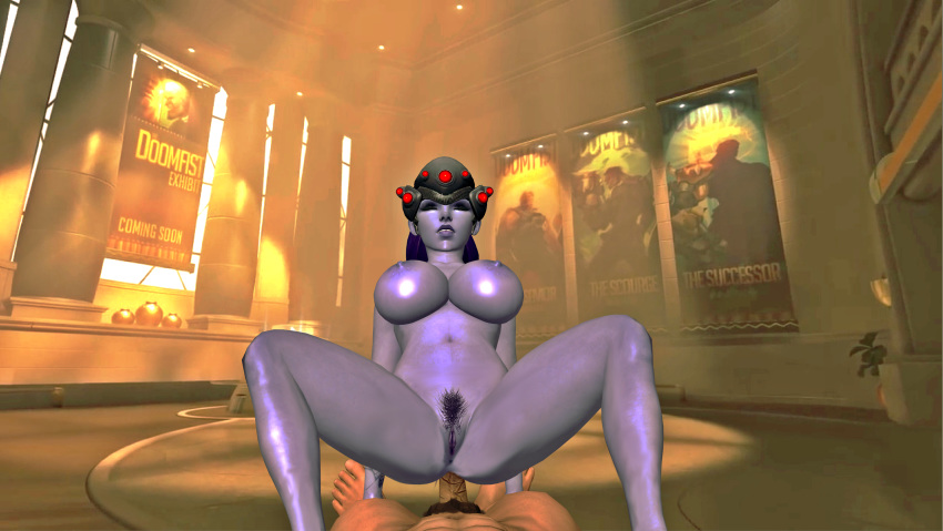 1_guy 1boy 1girl 3d anal big_breasts breasts closed_eyes feet female_solo foot games girls hair hairy human legs male nipples nude oral overwatch penis posing purple_hair purple_skin pussy pussy_hair pussy_lips render riding riding_penis sex shaved_pussy soles solo_female solo_male spread_legs spreading text toes video_games widowmaker xnalara xps