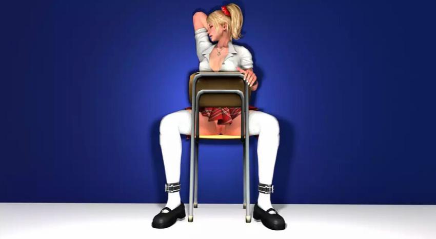 juliet_starling lollipop_chainsaw no_panties schoolgirl upskirt volga-h
