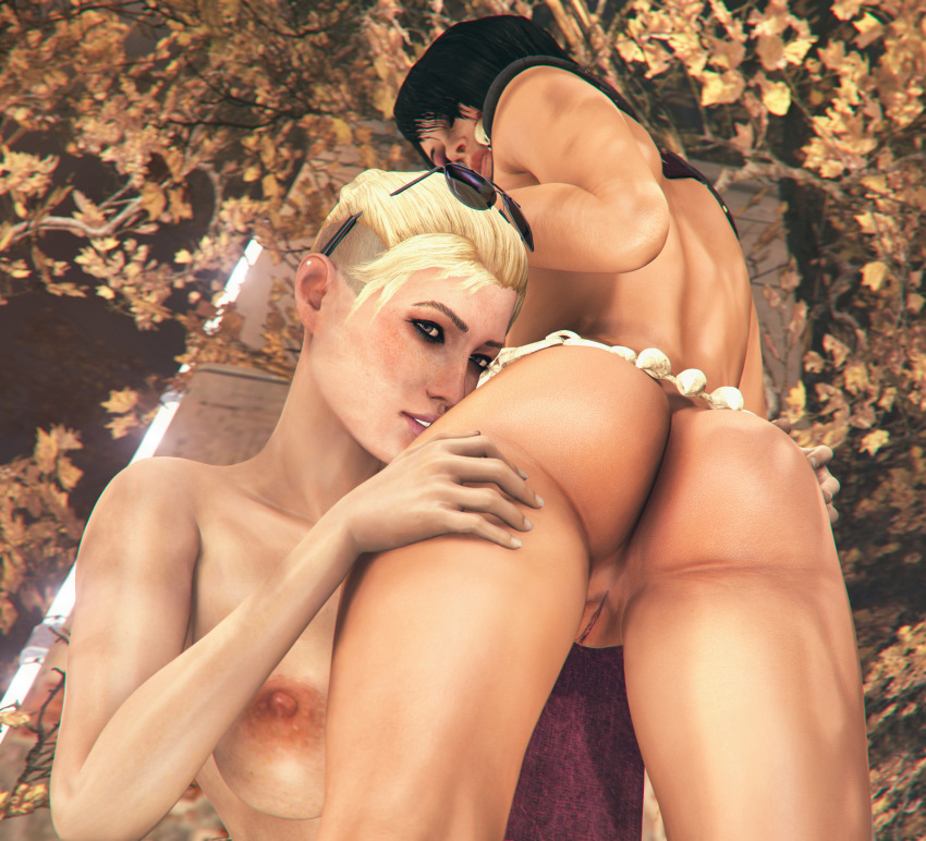 3d ass cassie_cage mileena mortal_kombat pussy rescraft source_filmmaker uncensored