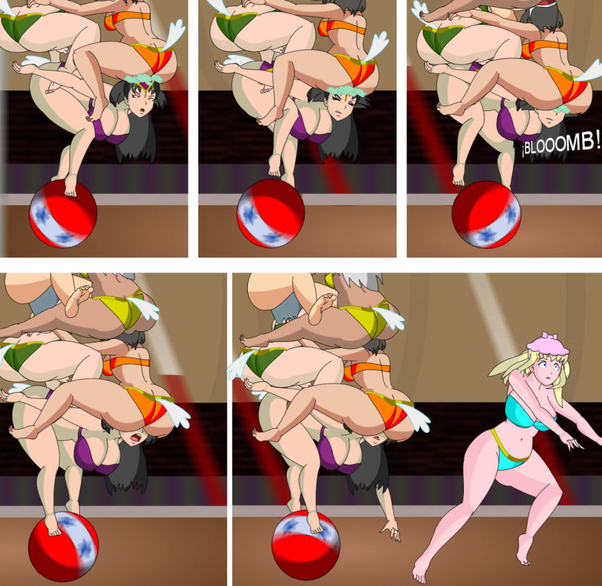 ball big_ass big_breasts breasts catty circus comic dumbo fall female_version giddy girl_on_top human_version matriarch mrsjumbo multiple_girls parody prissy public pyramid_(artist) pyramid_girls_(comic) run shinny_(fan_character) sitting_on_face smothering_ass sonnya_(fan_character) tower_human yuri