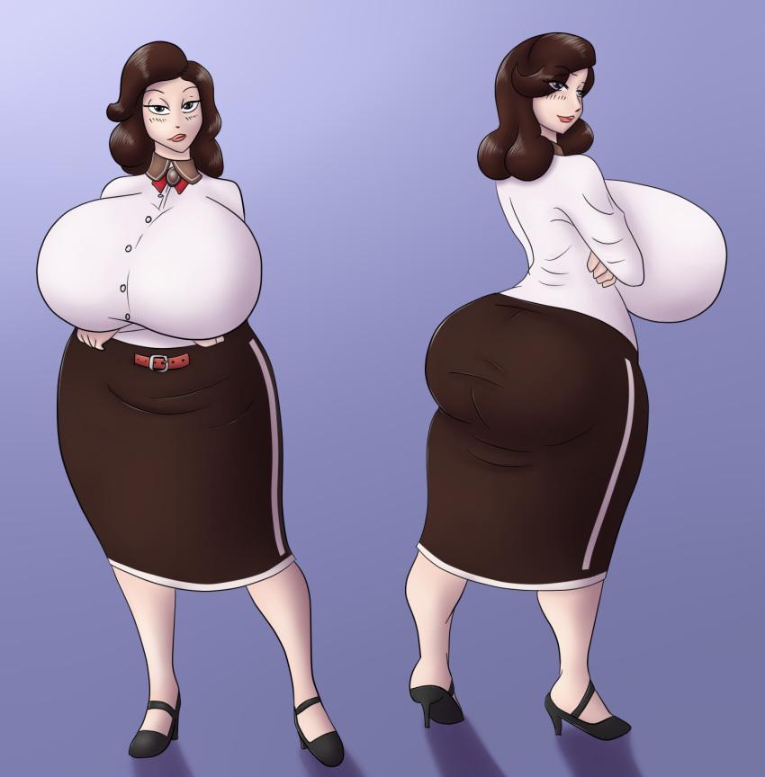 ass big_ass big_breasts bioshock bioshock_infinite breasts elizabeth looking_at_viewer looking_back marauder6272