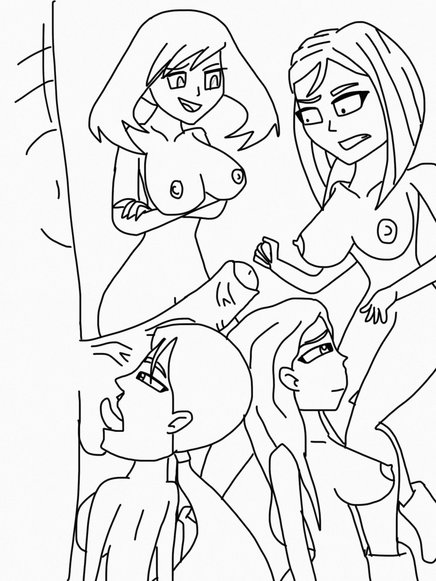 abby_archer arms_crossed ball_licking big_breasts courtney crossed_arms dora_and_friends dora_the_explorer emma fellatio freckles grossology haruka_(pokemon) interracial licking licking_penis looking_at_another may monochrome nipples pokemon ponytail porkyman red_hair redhead smile total_drama_island yuri