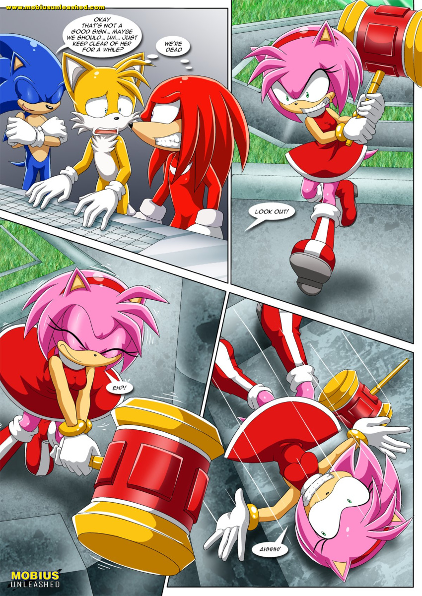"amy_rose knuckles_the_echidna miles_""tails""_prower mobius_unleashed palcomix sonic_the_hedgehog tagme tentacled_girls!_2"