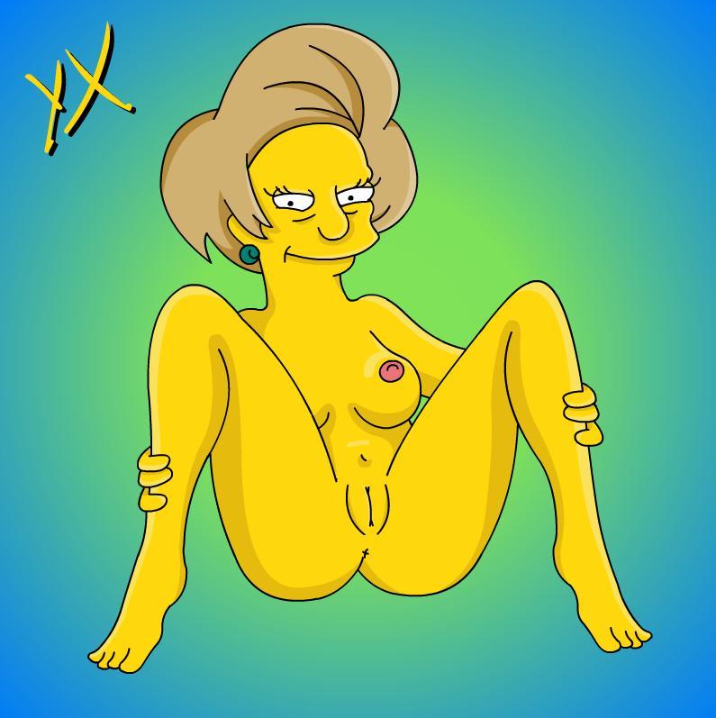 Edna krabappel xxx turns!