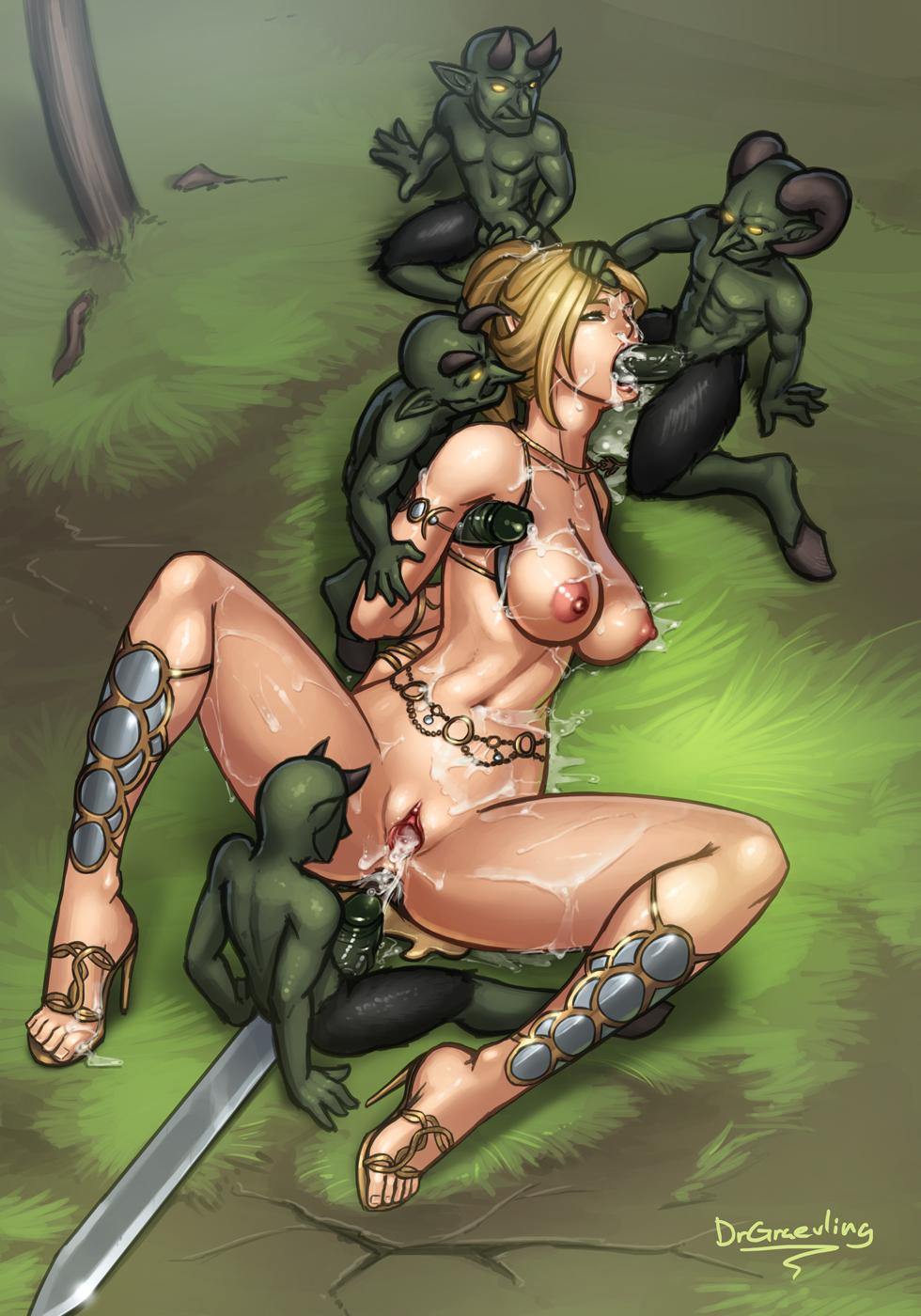 Elf girl fucked in water smut comics