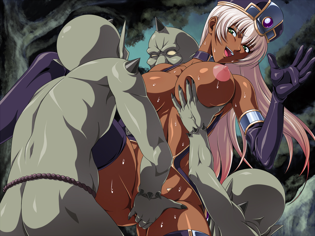 Girl and orc hentai xxx video