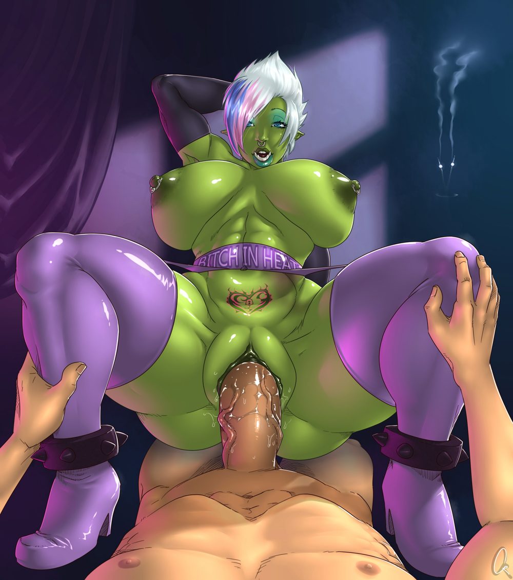 Girl and orc hentai adult pic