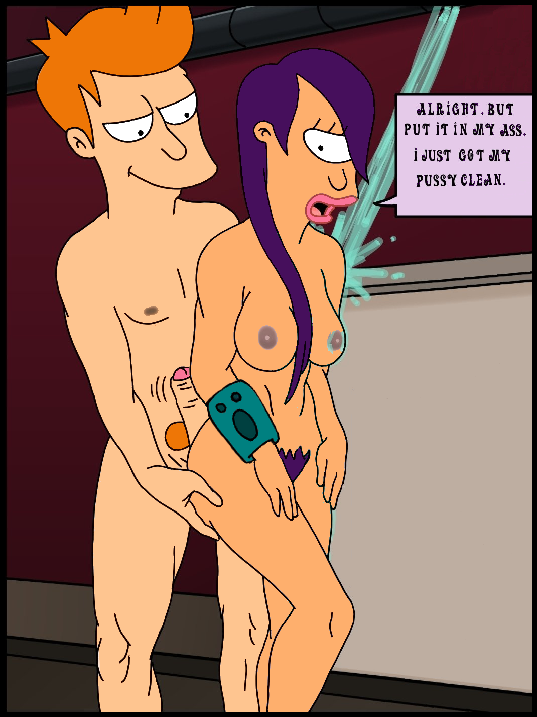 With leela in the shower naked ideal answer