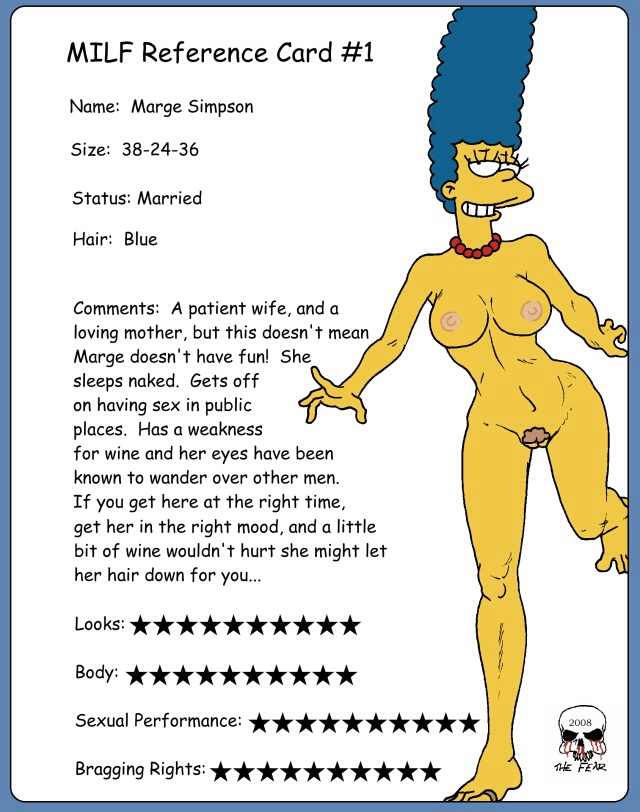 milf cards reference Simpsons hunter