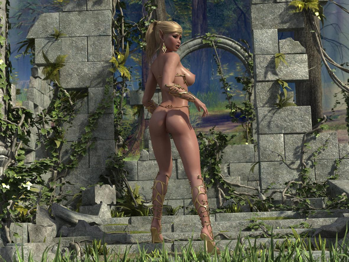 3d sexy girl elf gallery exposed scene