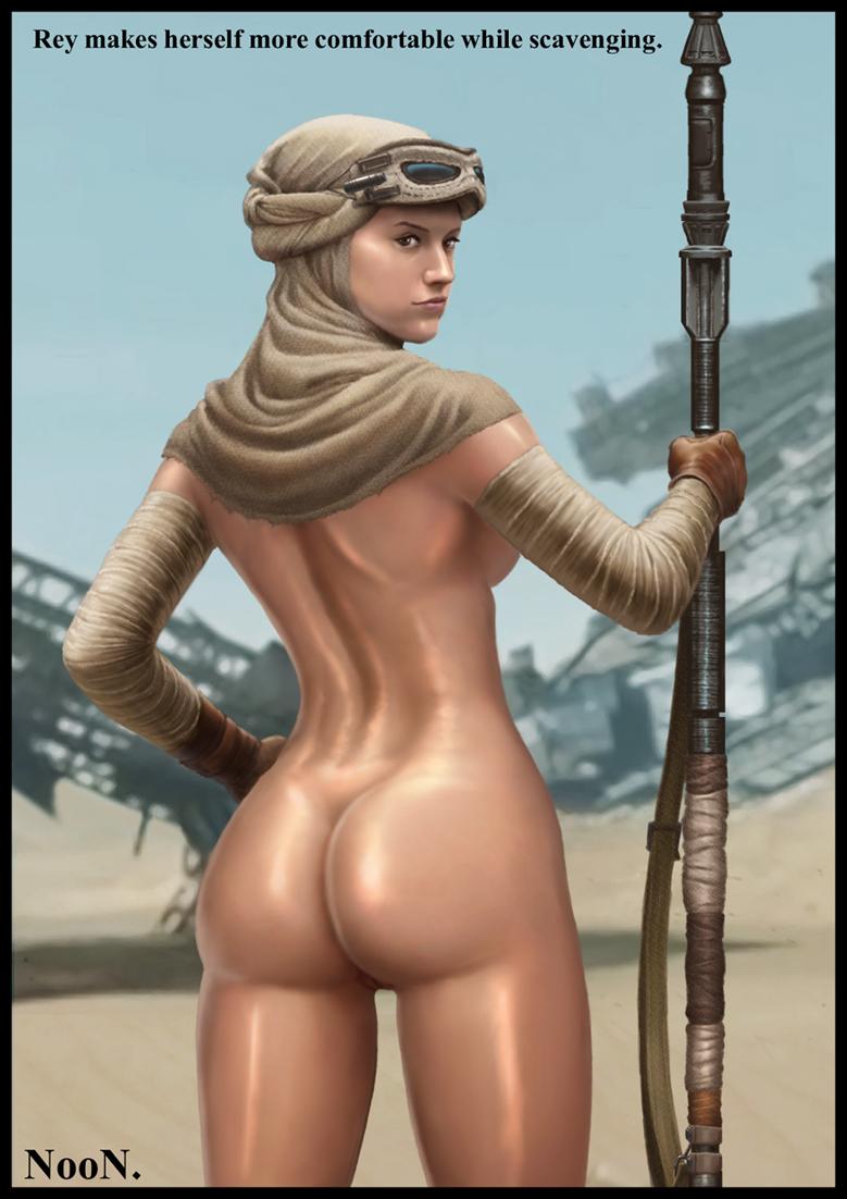 Star Wars Rey Naked