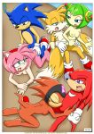 amy_rose cosmo_the_seedrian knuckles_the_echidna miles_prower mobius_unleashed palcomix shade_the_echidna sonic_the_hedgehog tagme when_the_guys_are_away rating:Explicit score:2 user:Christianmar762