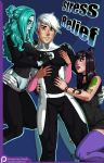 comic_cover danny_fenton danny_phantom danny_phantom_(character) ember_mclain ghost jzerosk_(artist) samantha_manson stress_relief rating:Questionable score:5 user:ShadowNanako