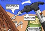 anvil cloud hammer nail tools