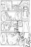 comic eri_ninamori flcl haruko_haruhara monochrome naota naota_nandaba