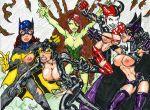 barbara_gordon batgirl batman catwoman dc harley_quinn huntress poison_ivy