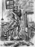 ^_^ bedroom cheetah couple darksilver darksilver_(artist) entwined feline female furry hetero hug hugging intimate lantern leopard licking male pencil pencils standing tongue