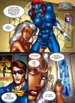 bondage breasts comic cyclops_(character) discord erect_nipples erection futanari huge_breasts marvel mystique nipples nude ororo_munroe penis scott_summers spread_legs storm x-men