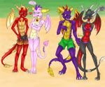 ass bikini cynder dragon furry scaley spyro_the_dragon tagme wings