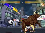 1girl animated animated_gif arc_system_works bestiality blonde_hair bull cap city doggystyle gif guilty_gear kuromaru kuromaru_(mugen) life_bar long_hair m.u.g.e.n millia_rage mugen_(game) night outdoors road screencap sprites street very_long_hair zoo