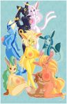 animal_ears artist_request barefoot big_breasts breasts eevee espeon feet flareon furry glaceon jolteon large_breasts leafeon nipples nude pawpads paws pokemon smile soles tail toes umbreon vaporeon