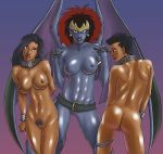 awesomeartist_(artist) belt beth_maza breasts butt chain collar demona ear_piercing earring elisa_maza female gargoyle gargoyles gunsmoke4_(artist) nipples nude piercing pointy_ears pubic_hair pussy slave smile tail wings
