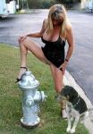 blonde cleavage dorgg exhibifetionism female fire_hydrant long_hair pgree photho public road role_swatp upskirt