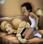 boondocks doggy_position famous-toons-facial jazmine_dubois lube riley_freeman stockings the_boondocks vaginal_penetration