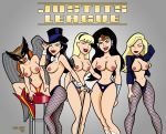 2009 alien bad_guy_(artist) big_breasts black_canary breasts dc dcau hair hawkgirl justice_league_unlimited lipstick nipples supergirl wonder_woman zatanna